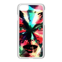 Abstract girl Apple iPhone 7 Seamless Case (White)