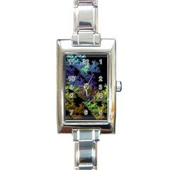 Fractal Forest Rectangle Italian Charm Watch