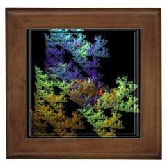 Fractal Forest Framed Tiles
