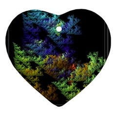 Fractal Forest Ornament (Heart)