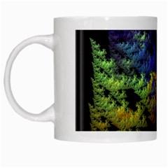 Fractal Forest White Mugs