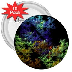 Fractal Forest 3  Buttons (10 Pack)