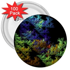 Fractal Forest 3  Buttons (100 Pack)