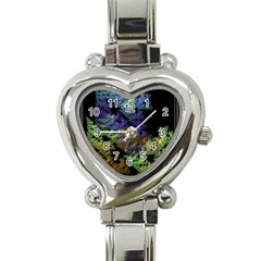 Fractal Forest Heart Italian Charm Watch