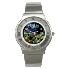Fractal Forest Stainless Steel Watch
