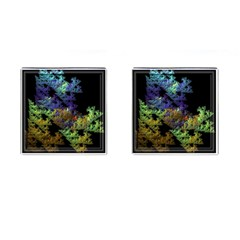 Fractal Forest Cufflinks (Square)