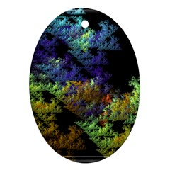Fractal Forest Oval Ornament (Two Sides)