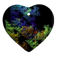 Fractal Forest Heart Ornament (two Sides)