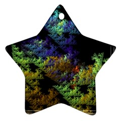 Fractal Forest Star Ornament (Two Sides)