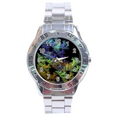 Fractal Forest Stainless Steel Analogue Watch