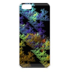 Fractal Forest Apple iPhone 5 Seamless Case (White)