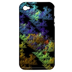 Fractal Forest Apple iPhone 4/4S Hardshell Case (PC+Silicone)