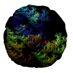 Fractal Forest Large 18  Premium Round Cushions