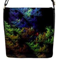 Fractal Forest Flap Messenger Bag (S)