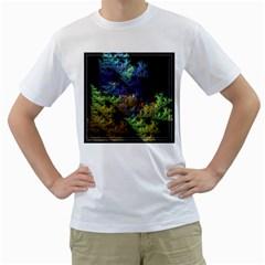Fractal Forest Men s T-Shirt (White)