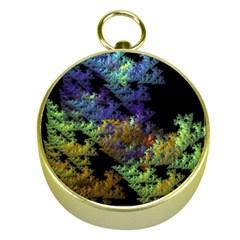 Fractal Forest Gold Compasses