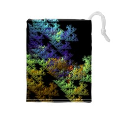 Fractal Forest Drawstring Pouches (large)