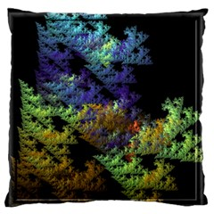 Fractal Forest Large Flano Cushion Case (Two Sides)