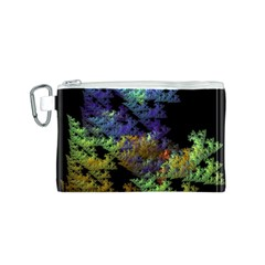 Fractal Forest Canvas Cosmetic Bag (S)