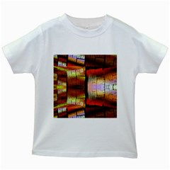 Fractal Tiles Kids White T-Shirts