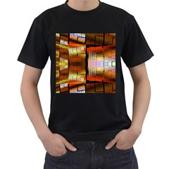 Fractal Tiles Men s T Shirt (black) (two Sided)