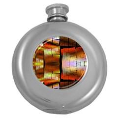 Fractal Tiles Round Hip Flask (5 oz)