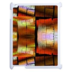 Fractal Tiles Apple iPad 2 Case (White)