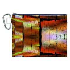 Fractal Tiles Canvas Cosmetic Bag (xxl)
