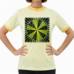 Fractal Ball Women s Fitted Ringer T Shirts