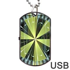 Fractal Ball Dog Tag USB Flash (One Side)
