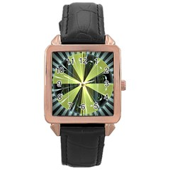 Fractal Ball Rose Gold Leather Watch