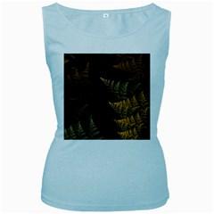 Fractal Fern Women s Baby Blue Tank Top