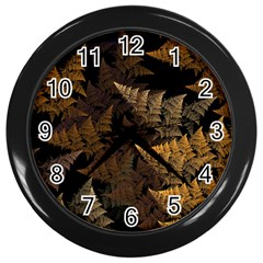 Fractal Fern Wall Clocks (black)