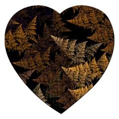 Fractal Fern Jigsaw Puzzle (Heart)