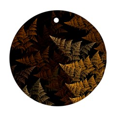 Fractal Fern Round Ornament (Two Sides)