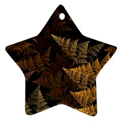 Fractal Fern Star Ornament (Two Sides)