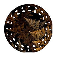 Fractal Fern Round Filigree Ornament (Two Sides)