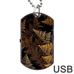 Fractal Fern Dog Tag USB Flash (Two Sides)