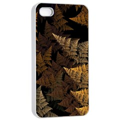 Fractal Fern Apple Iphone 4/4s Seamless Case (white)