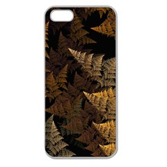 Fractal Fern Apple Seamless iPhone 5 Case (Clear)