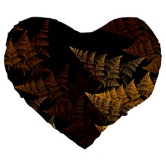 Fractal Fern Large 19  Premium Heart Shape Cushions