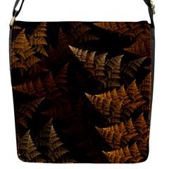 Fractal Fern Flap Messenger Bag (S)