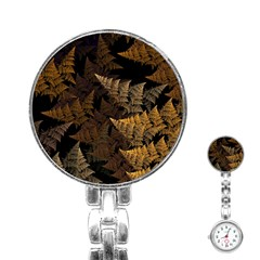 Fractal Fern Stainless Steel Nurses Watch