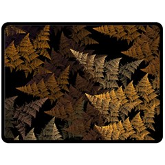 Fractal Fern Double Sided Fleece Blanket (Large)