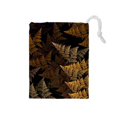 Fractal Fern Drawstring Pouches (Medium)