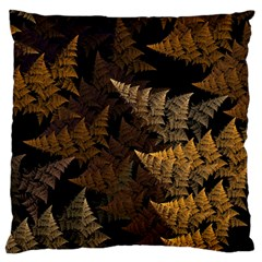Fractal Fern Large Flano Cushion Case (one Side)