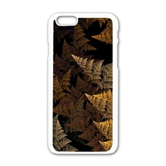 Fractal Fern Apple iPhone 6/6S White Enamel Case