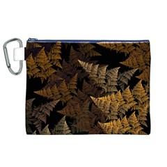 Fractal Fern Canvas Cosmetic Bag (XL)