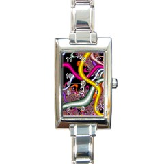 Fractal Roots Rectangle Italian Charm Watch