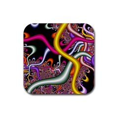 Fractal Roots Rubber Coaster (square)